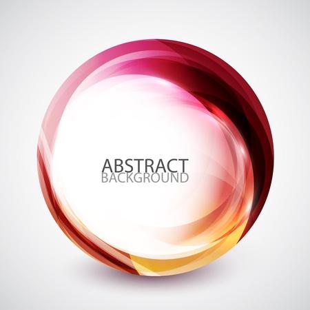 effetti di luce: Astratto ricciolo cerchio di energia