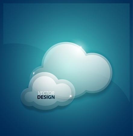 wifi access: Techno nuvole di sfondo
