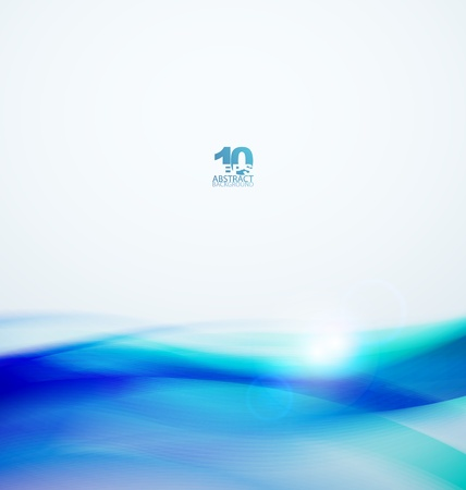 Blue abstract waves Stock Vector - 13400941