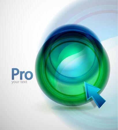 Liquid techno button background Stock Vector - 13527175