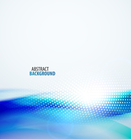 blue swirls: Abstract wave background