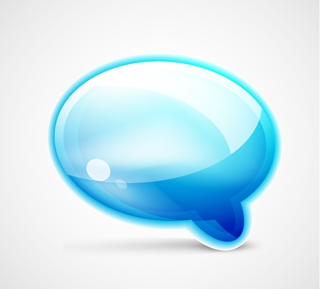 discussion forum: Blue glossy chat box