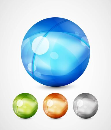 Glass sphere icons Stock Vector - 13527166