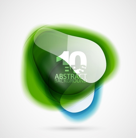 Vector translucent shapes abstract background Vector