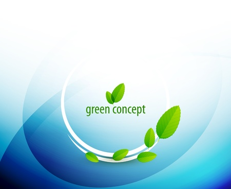 Green circle nature concept Vector