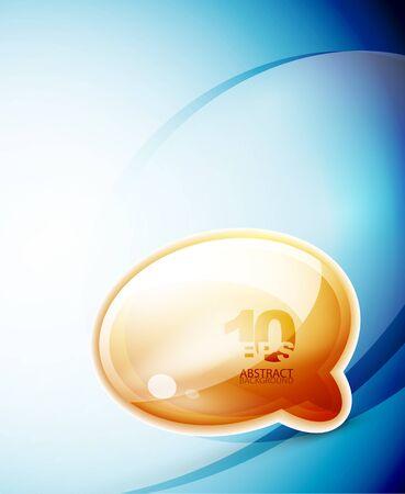 Speech bubble wave background Vector
