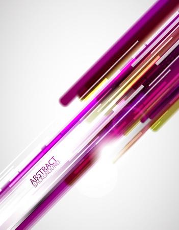 profundidad: L�neas de color p�rpura Vectores