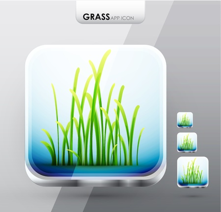 Grass app icons Illustration
