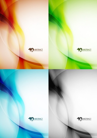 Set of wave backgrounds Vector