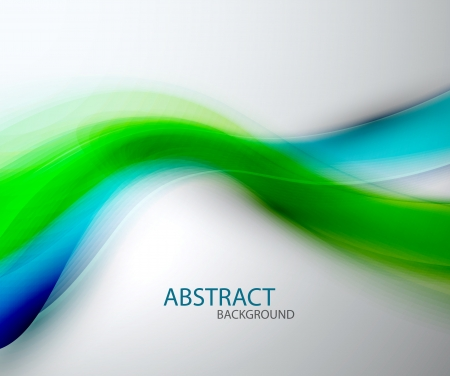 green smoke: Blurred abstract blue green wave background Illustration