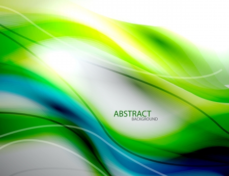 blue swirls: Blurred abstract blue green wave background Illustration