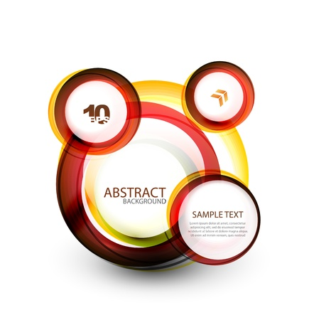 Abstract web bubble banner Vector
