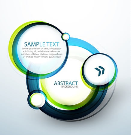 graphics design: Blue bubble abstract banner