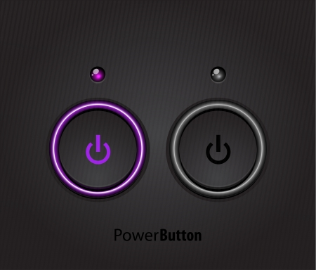 led: Black led light power button