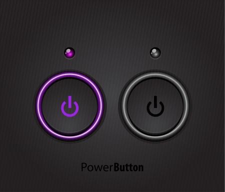 interruttore: Nero led pulsante di accensione della luce