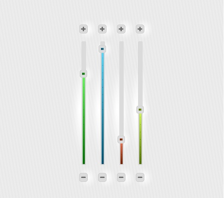 volume bar set Vector
