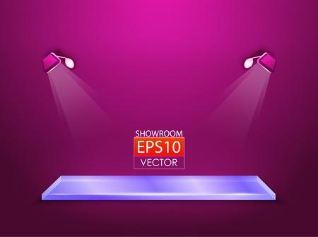 showroom with spotlights Stock Vector - 13805200