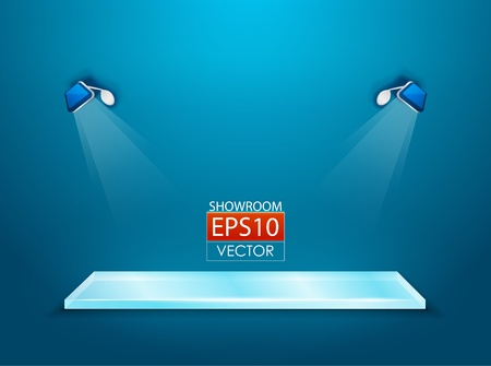 showroom with spotlights Stock Vector - 13805199