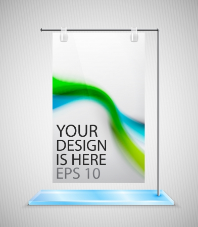 retail display: poster stand banner Illustration