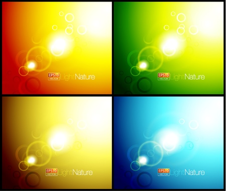 Nature flares abstract backgrounds Vector