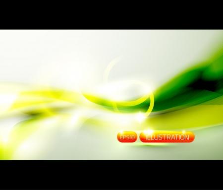 Vert brillant vague de fond