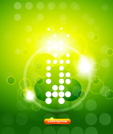 green shiny techno background Vector