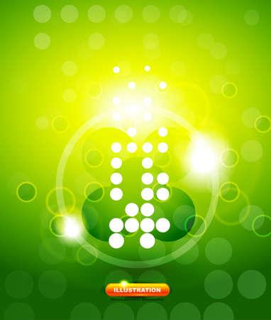green shiny techno background Stock Vector - 13908907