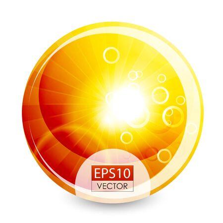 Orange shiny sphere background photo