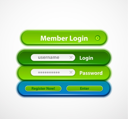 Vector web login form