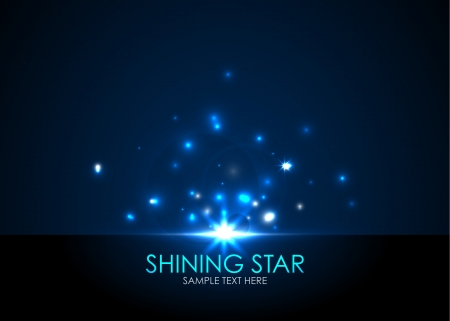 to shine: shining star Illustration