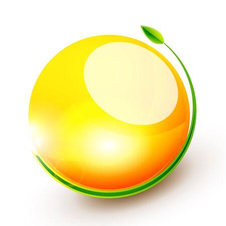 Green sphere concept Illustration