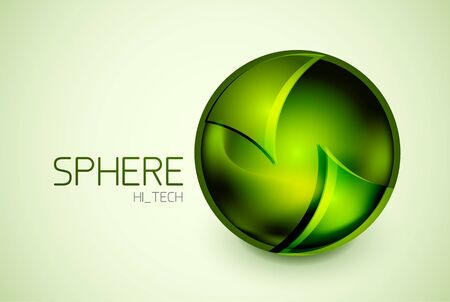 Abstract glass hi-tech sphere concept Vector
