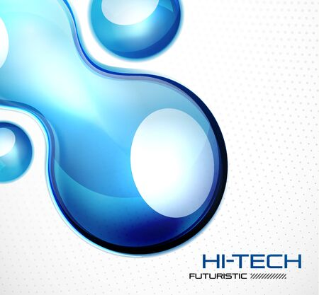 Glossy bubble abstract background photo