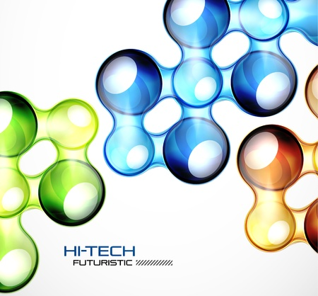 water flow: Glossy bubble abstract background Illustration