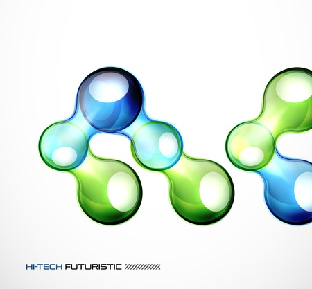 Glossy bubble abstract background Stock Vector - 14084478