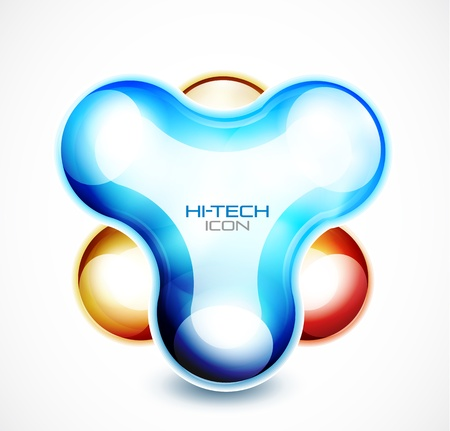 Hi-tech liquid abstract icon Vector