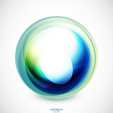 green swirl: abstract swirl round shape Illustration