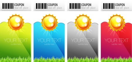 Tear-off nature coupons Vector