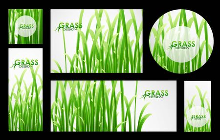grass blades: Set of grass banners