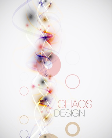 Abstract chaos lines background Stock Vector - 14254112