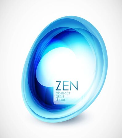 zen stone: Abstract glass shape composition Illustration