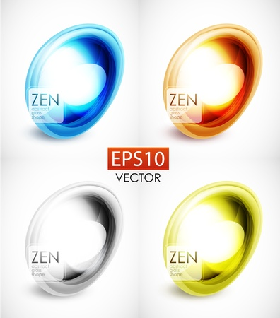 Abstract glass shape composition Vector