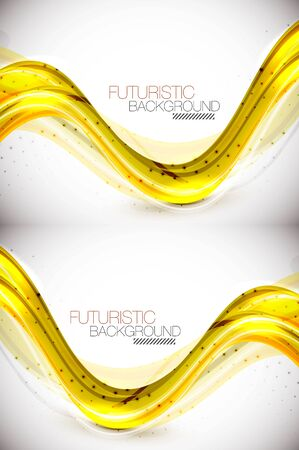 Futuristic wave background Vector