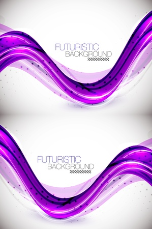 Futuristic wave background Stock Vector - 14348973