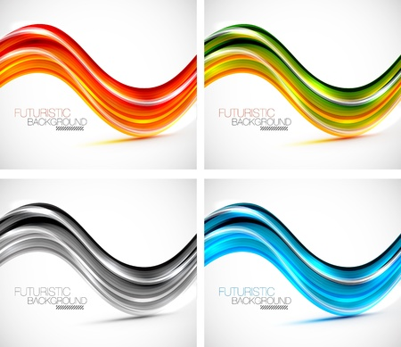 Futuristic wave background Stock Vector - 14348970