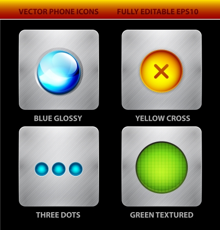 mobile app: Glossy circles mobile app icons