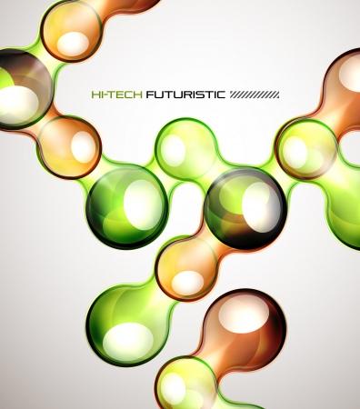 Techno bubble background Stock Vector - 14424386