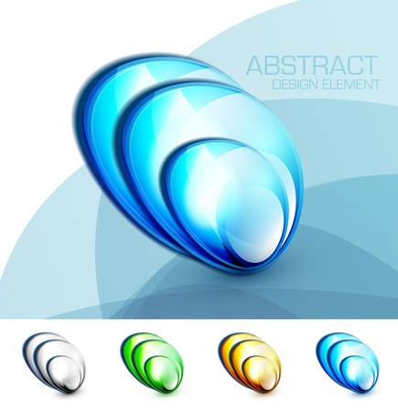 blue fluid concept Vector