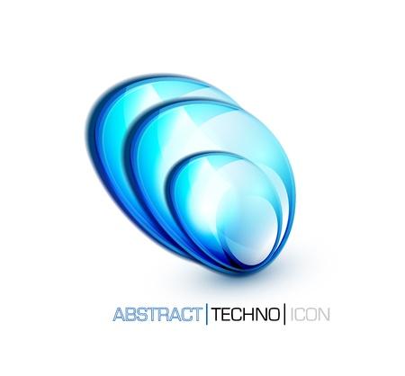 blue fluid concept Vector