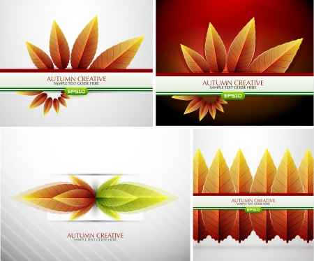 Autumn background set Vector